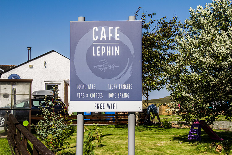 What's on Skye, Café Lephin Sign